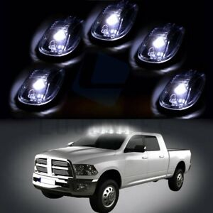 5x Fits Dodge Ford Truck F250 Clear Led Cab Roof Lights Running Marker Lens
