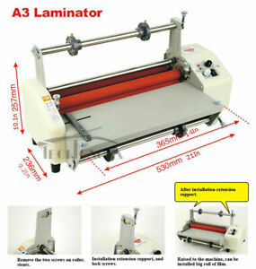 A3 Double Sides Hot Cold Laminating Thermal Laminator Heating Stepless Speed Us