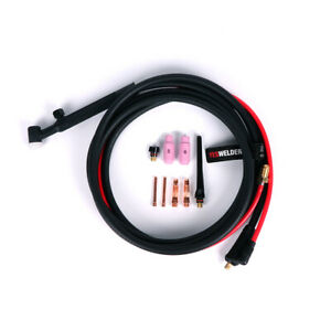 Wp 17v 150 amp Air Cooled Lift Tig Torch 12ft 4m 10 25 Connector