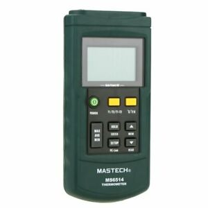 Mastech Ms6514 Digital Thermometer Dual channel Temperature Sensor Usb Interface