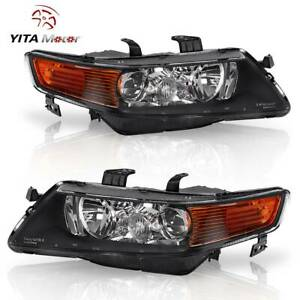 Yitamotor For 2004 2008 Acura Tsx Projector Headlights Headlamps Replacement L r