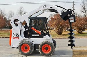 Lowe 750 Hex Auger Drive Digger With 15 Wide Bit Fits Skid Steer Quick Attach