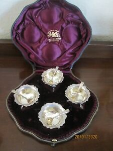 Hamilton Inches Edinburgh Scotland Sterling Silver Salt Cellars 1908