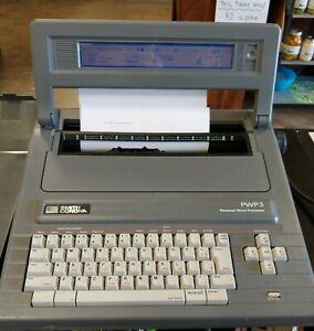 Smith Corona Electric Typewriter Word Processor Pwp 3 With Cover Working