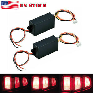 A Pair 3 step Sequential Flow Semi Dynamic Chase Flash Tail Light Module Boxes