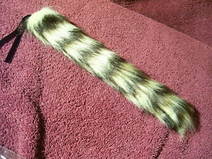 Raccoon Tail Mirror Antenna Topper Auto 50s 60s Ford Chevy Ratrod Accessory