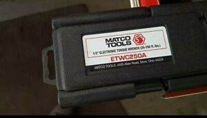 Matco Etwc250a Electronic Torque Wrench Like New