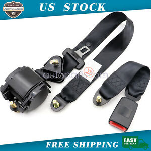 3 Point Safety Seat Belt Straps Heavy Duty Car Truck Adjustable Retractable 1set
