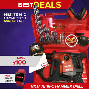 Hilti Te 16 c Hammer Drill Preowned Free Smart Watch Bits Fast Ship