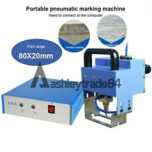 Pneumatic Dot Peen Metal Marking Machine Make Letters Serial Numbers Vin Codes