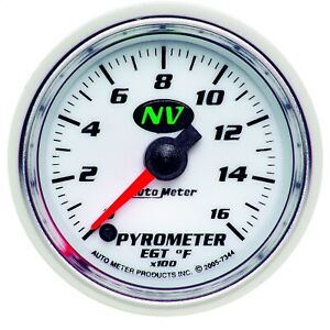 Autometer 7344 Nv Electric Pyrometer Gauge Kit