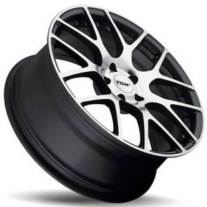 4 18 19 Staggered Tsw Wheels Nurburgring Gunmetal Forged Corvette 31