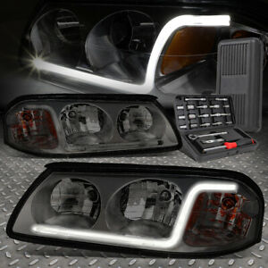 For 00 05 Chevy Impala Led Drl Smoked Housing Amber Corner Headlights tool Set