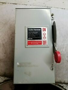 Cutler Hammer 30 Amp Fused Safety Switch 600 Vac 3 Phase 20 Hp Type 3r Dh361nrk