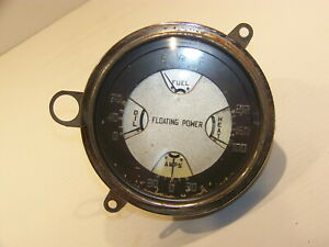 1937 Plymouth Coupe Fuel Heat Oil Amps Floating Power Gauge Cluster Oem