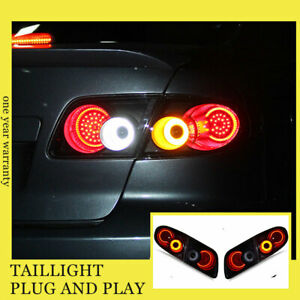 For Mazda 6 Atenza Led Taillights Assembly 2003 2008 Darkled Rear Lamps
