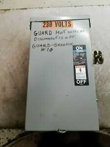 Siemens 30 Amp Fused Safety Switch 600 Vac 20 Hp 3 Phase Fr351