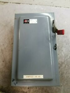 Cutler Hammer 30 Amp Fused Safety Switch 600 Vac 20 Hp 3 Phase 4105h311h
