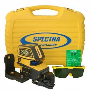 Spectra Lt52g 5 beam Cordless Self Leveling Green Laser Level W Cross Line