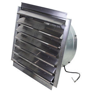 Maxx Air If24 24 inch 4 100 cfm Heavy Duty Exhaust Fan With Shutter If24ups