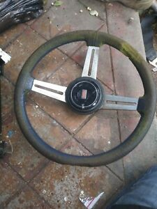 Steering Wheel Oldsmobile Calais Cutlass Blue 3 Spoke For Restoration 1981