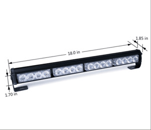 16 Led Emergency Warning Strobe Light Bar Flashing Car Truck Lamp 12v 18 Inch