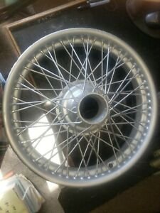 3 Vintage Dunlop 18x3 25 Wire Wheels 60 Spoke Outer Laced Sand Blasted Painted