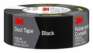 3m Black Duct Tape 3960 bk 1 88 Inches By 60 Yards 1