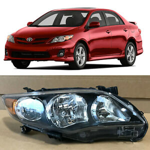Headlight Replacement For 2010 2012 2013 Toyota Corolla Black 81110 02b60 Right