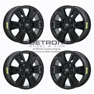 20 Toyota Tundra Gloss Black Wheels Rims Factory Oem 75159 2007 2020 Set