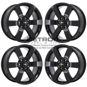 20 Chevrolet Trailblazer Gloss Black Wheels Rims Factory Oem 5254 2004 2009