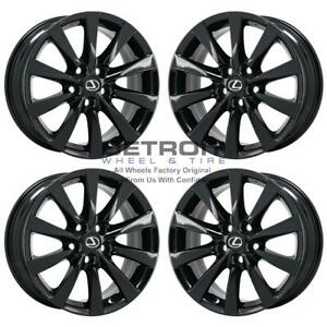 18 Lexus Ls460 Gloss Black Wheels Rims Factory Oem 74221 2010 2017 Set