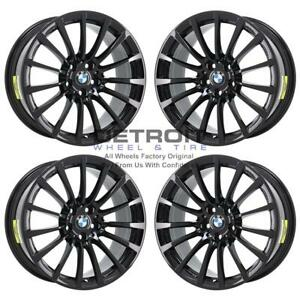 18 Bmw 530i Gloss Black Wheels Rims Factory Oem 86274 2017 2020 Set