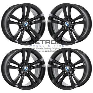 18 Bmw 320i Gloss Black Wheels Rims Factory Oem 71540 2012 2019 Set