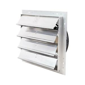 16 In Electric Power Exhaust Fan Mount Variable Speed 1100 Cfm W Auto shutters