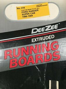 Dee Zee 216 Extruded Aluminum Running Boards 1986 1988 Ford Ranger Super Cab