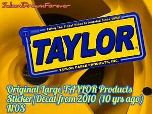 Large Taylor Sticker Decal Spark Plug Wires Cables Ford Gt Shelby Saleen Chevy