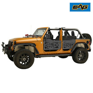 Eag Tubular Jesus Fish Door With Side Mirror Fit For 18 20 Jeep Jl Wrangler 4dr