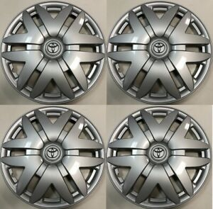 4 X 16 Hub Cap Silver Fits 2004 2005 2006 2007 Toyota Sienna Wheel Cover