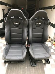 Seat Recaro Leather Like New Unused With Sliders Sold As A Pair