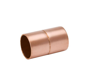 Copper Fitting Coupling For 7 8 O d Tubing W Ring Stop Hvac Coupler New Usa