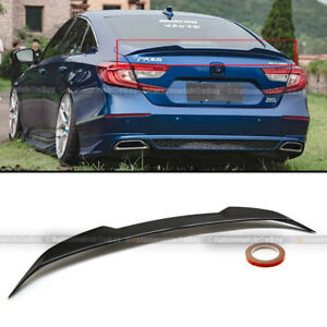 For 18 19 Accord 4dr H Style Trunk Lid Spoiler Wing Glossy Black Painted