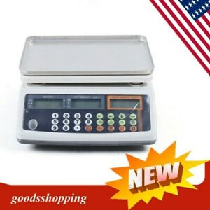 Digital Parts Coin Precise Counting Scale 66lb X 0 002 Lb Lcd Display