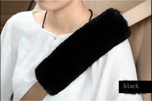 2pcs Australia Sheepskin Seat Belt Cover Safety Car Shoulder Pad Seatbelt Covers