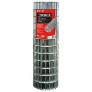 Everbilt Welded Wire Fence 4 Ft X 100 Ft 14 gauge Galvanized Steel Silver