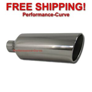 Stainless Steel Truck Diesel Suv Exhaust Tip 2 5 Inlet 6 Outlet 18 Lo