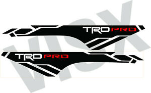 X2 Trd Pro Off road Vinyl Decals For 2013 2019 Toyota Tacoma Bed Side