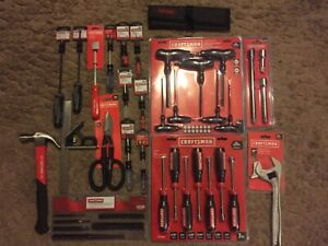 Huge 45 Piece Craftsman Tools Hex Set Drivers Extensions Punch Screwdrivers Bnip