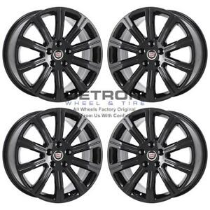 18 Cadillac Ats Gloss Black Wheels Rims Factory Oem 4732 2013 2019 Set