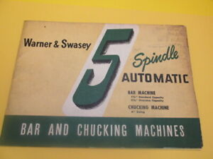 Warner Swasey 5 Spindle Automatic Bar And Chucking Machines